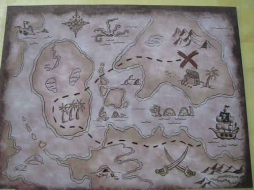 Treasure map placemat from Oriental Trading.